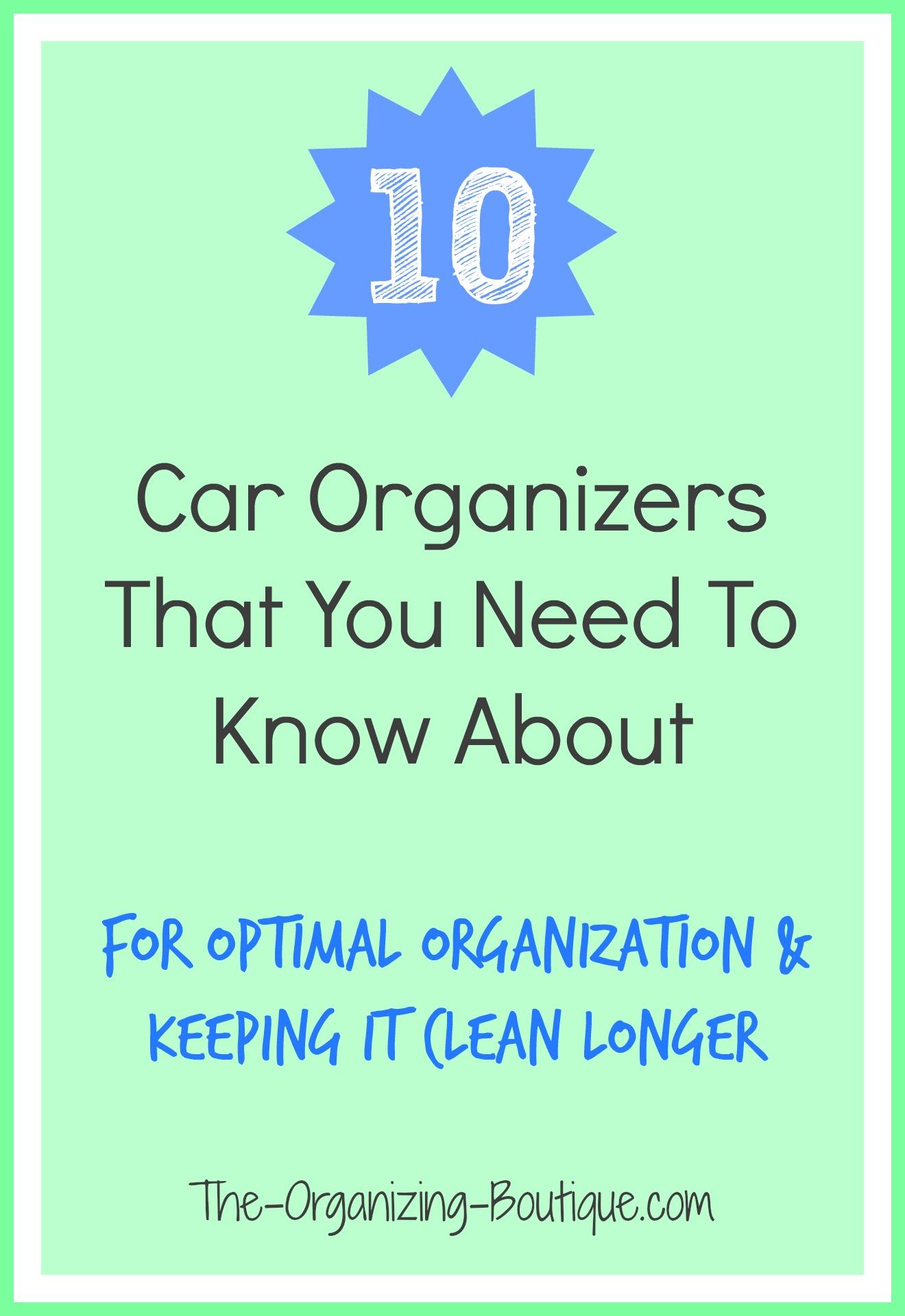 10 Car Organizers