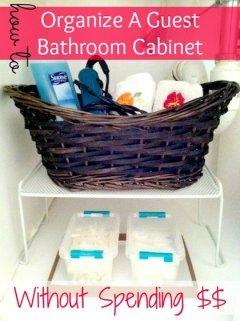 guest bathroom storage solutions
