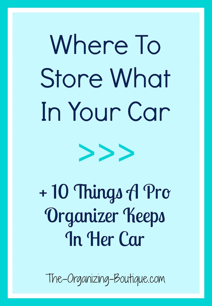 car organization tips