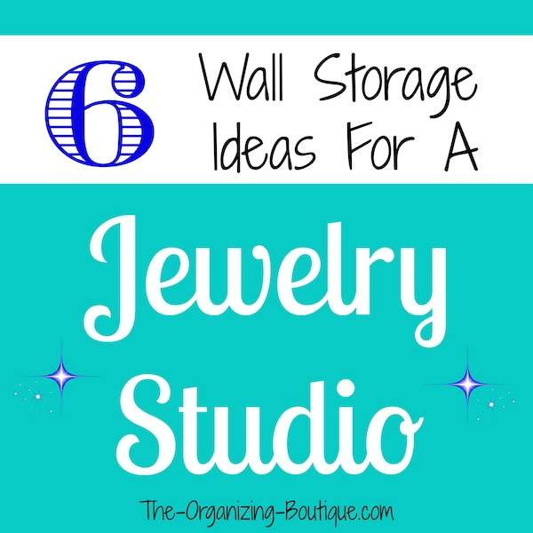 hanging jewelry organizers for a jewelry studio