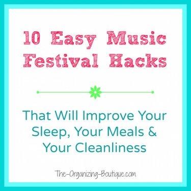 10 music festival & camping hacks that rock