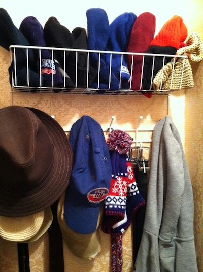 baseball cap storage