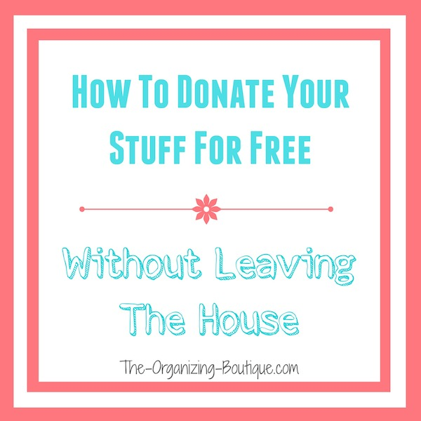 donate used furniture & houssehold goods without leaving the house