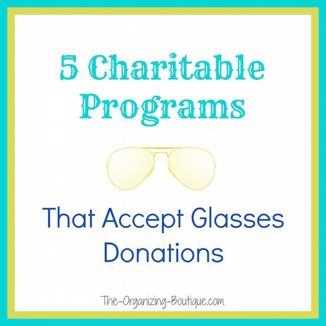 donate old eyeglasses