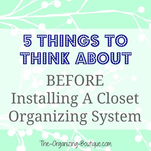 closet organizing systems