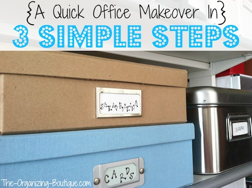 home office ideas - organize your office in 3 simple steps