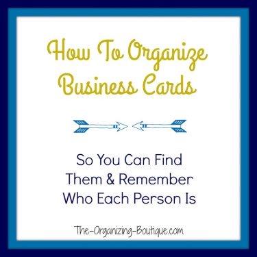 business card storage ideas