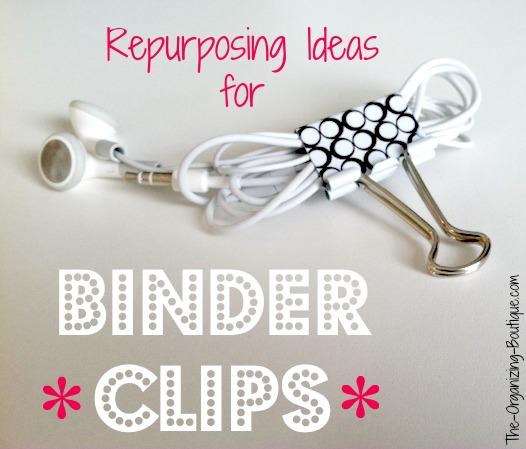 repurposing ideas for binder clips