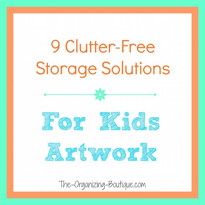 Storage For Kids Artwork