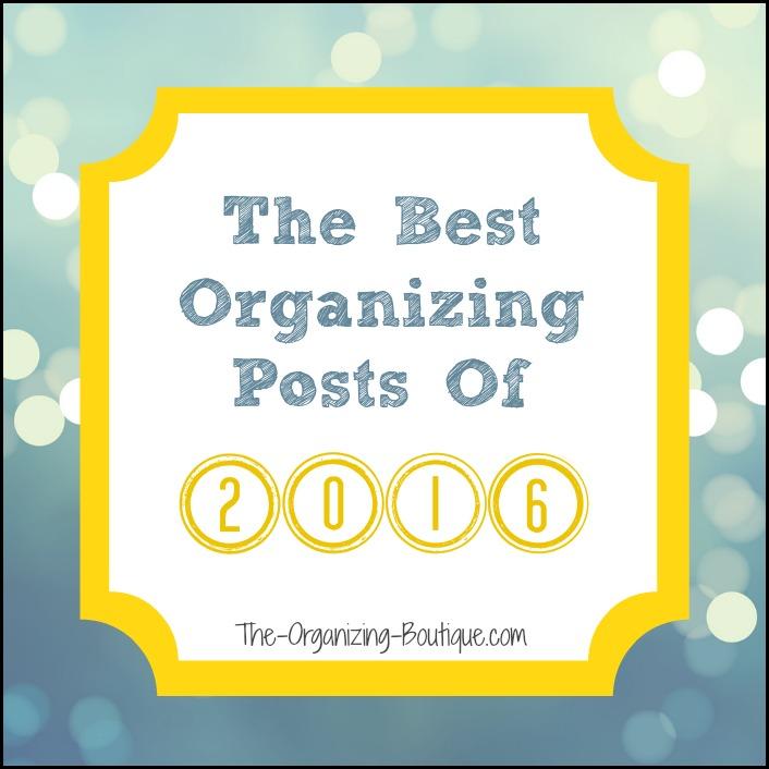 2016 top organizing blog posts