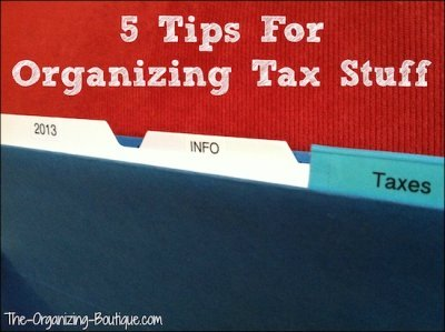 organizing your taxes