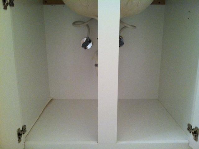 guest bathroom storage solutions - empty