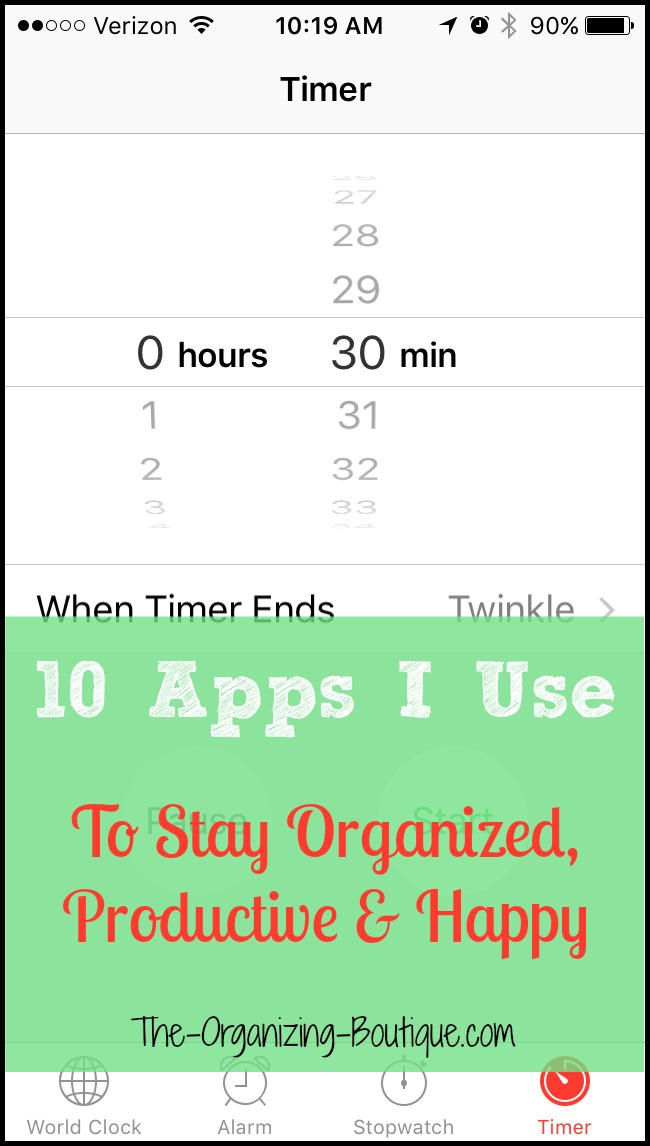 cell phone apps to stay organized