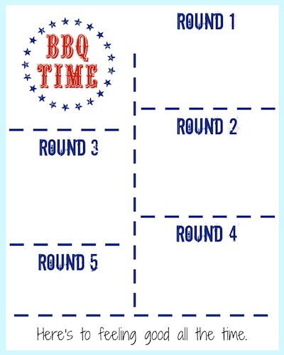 bbq cooking tips & printable menu planner
