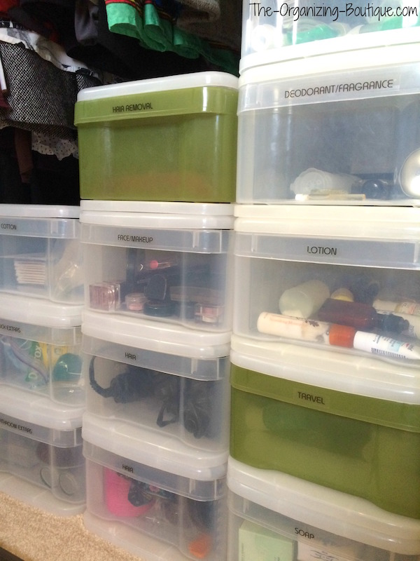 plastic organizer drawers for bathroom stuff