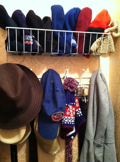 baseball cap storage closet organizing ideas