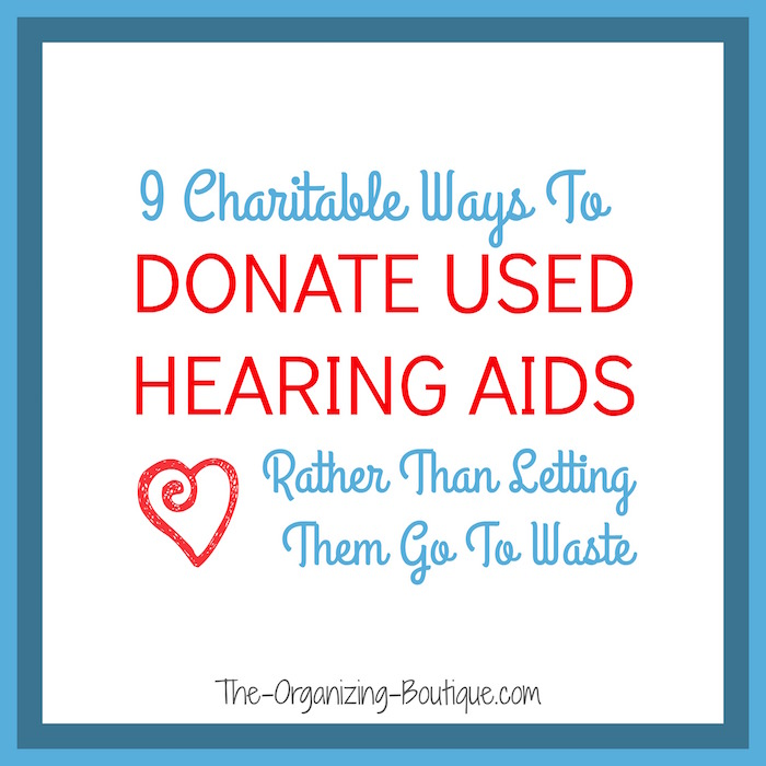 donate hearing aids