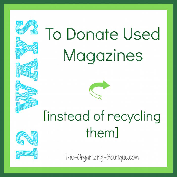 donate magazines without recycling them