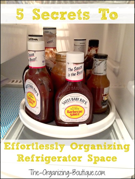 5 secrets to organizing refrigerator space