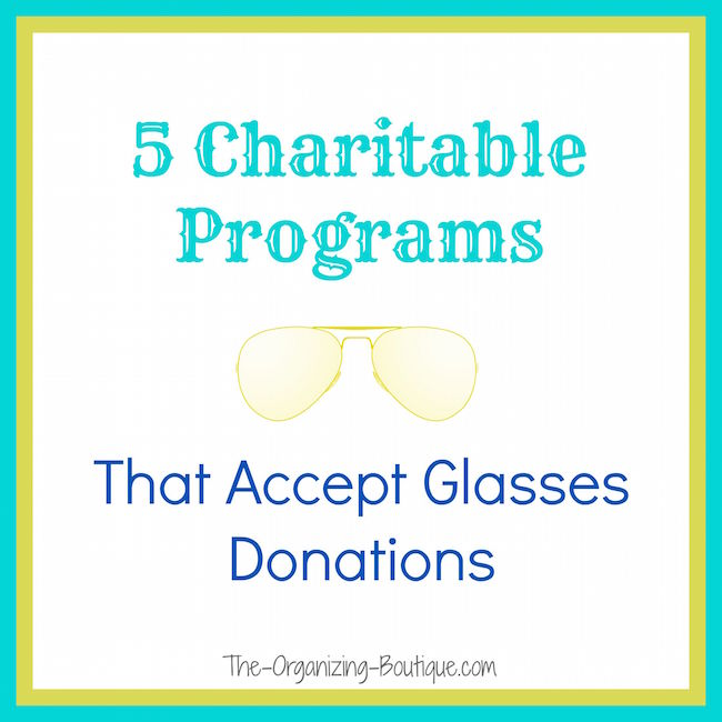 donate old eyeglasses