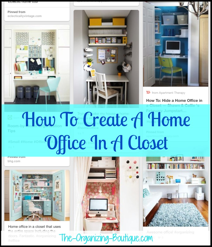 Home Office In A Closet | Office Organization Ideas