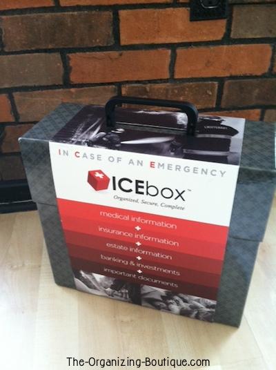 ICEbox document storage box