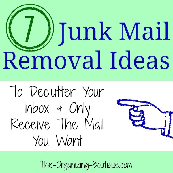 junk mail removal ideas