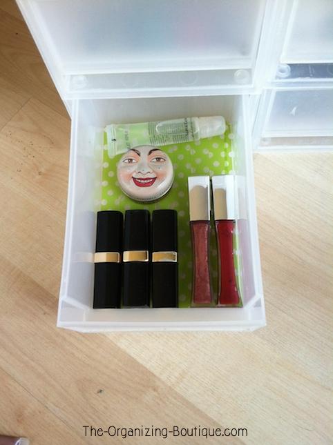 Makeup Storage Drawers & DIY Washi Tape Craft