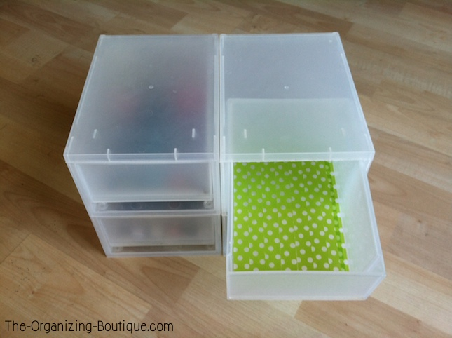 Makeup Storage Drawers & DIY Washi Tape Craft