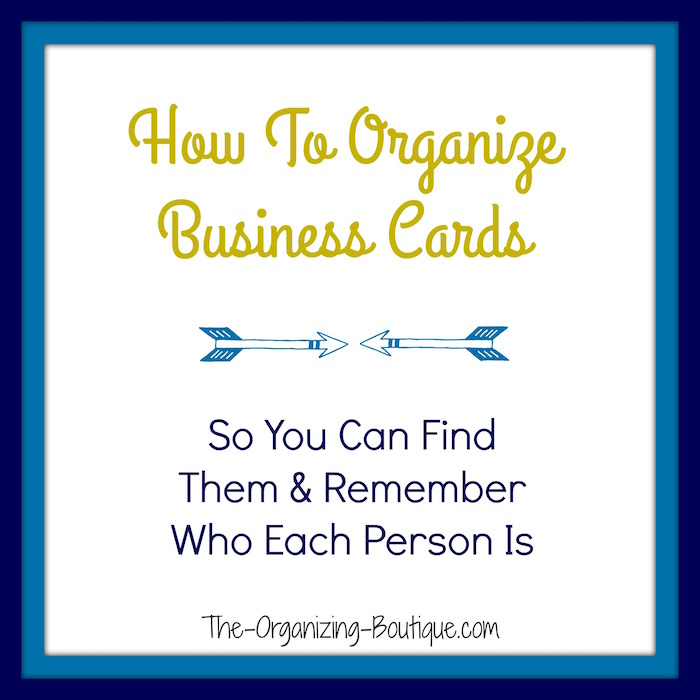 business card storage ideas