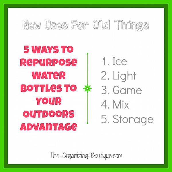 camping tips and tricks - repurpose water bottles