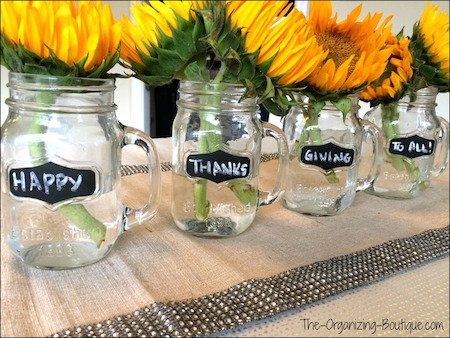 Thanksgiving decorating ideas homemade thanksgiving for Homemade thanksgiving decorations for the home