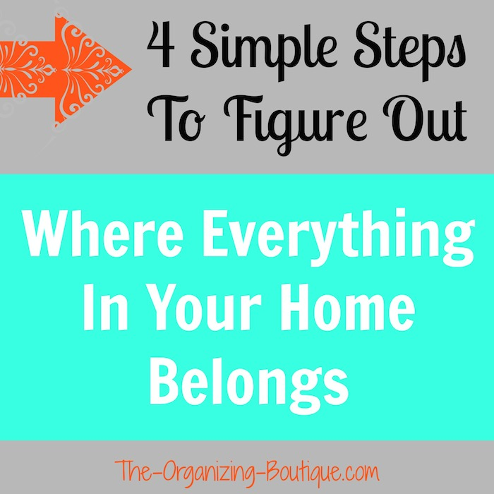how to organize your home in 4 easy steps