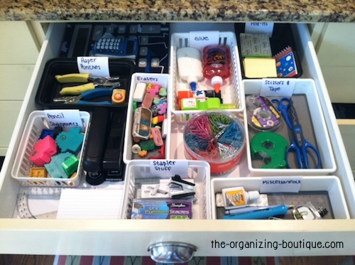 office supplies storage. How To Tame Office Drawers With Plastic Organizers You Already Have  Organization Tips