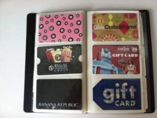 How to organize coupons & gift cards