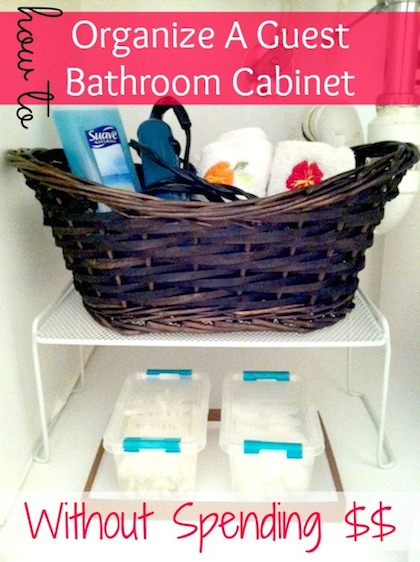 guest bathroom storage solutions