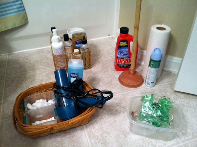 guest bathroom storage solutions - sorting