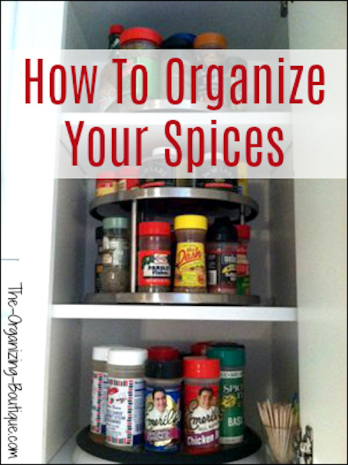 To Organize Your Spices Using Turntables | The-Organizing-Boutique.com