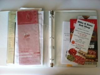 menu organizer