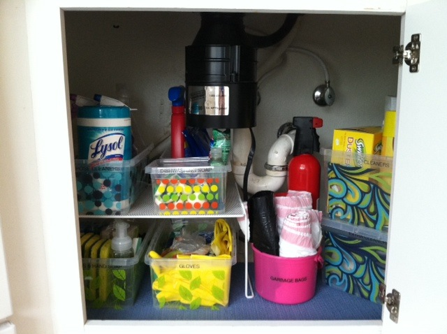 under sink storage - after