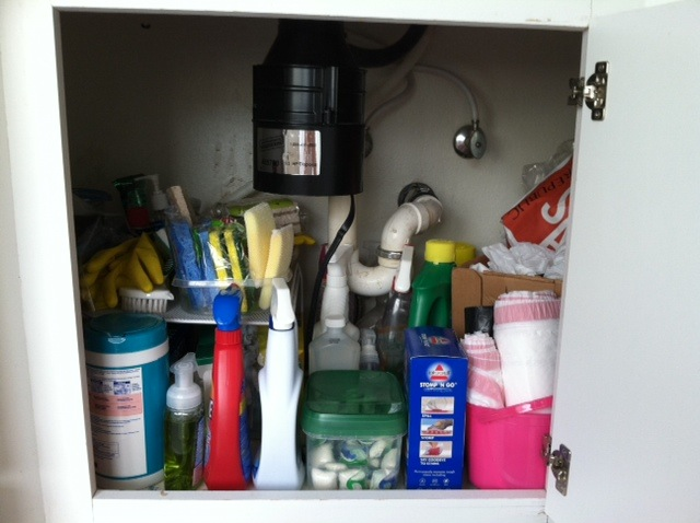 under sink storage - before