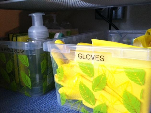 under sink storage - gloves