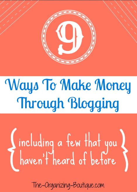 9 Ways To Make Money Through Blogging