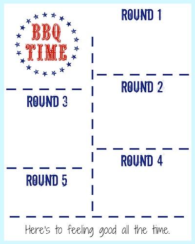 bbq cooking tips & printable menu planner