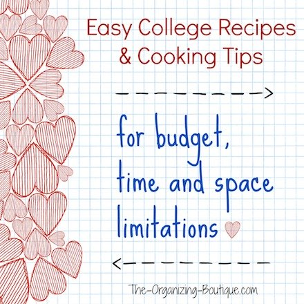college recipes and college cooking tips