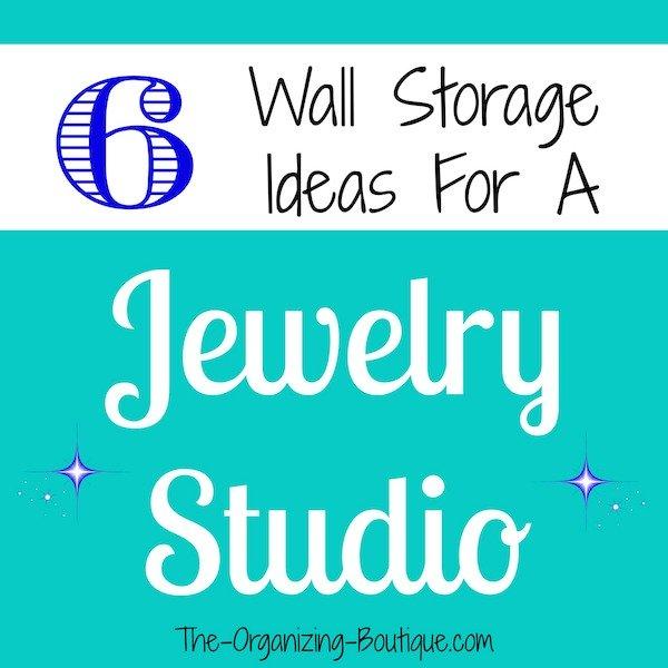 hanging jewelry organizers for a jewelry studio