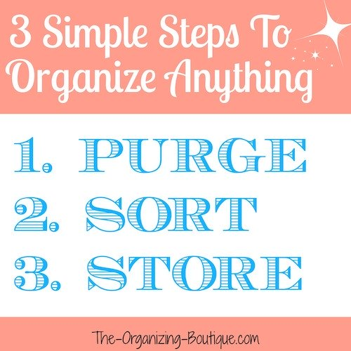 3 Simple Steps To Organizing Anything
