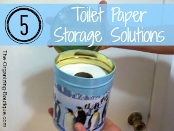 over the toilet cabinet & other toilet paper storage ideas