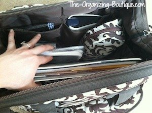 organize your work tote bags