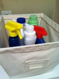 open canvas storage bins